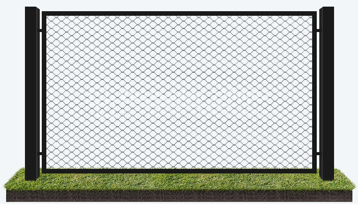 Забор из сетки рабицы «Рамный»