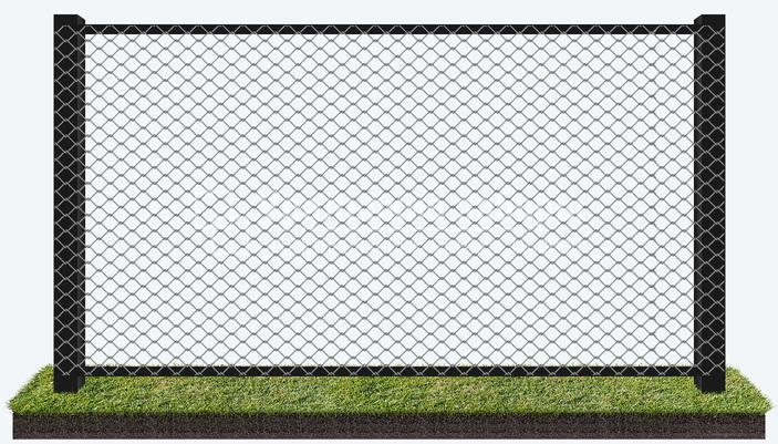 Забор из сетки рабицы «Сплошной»