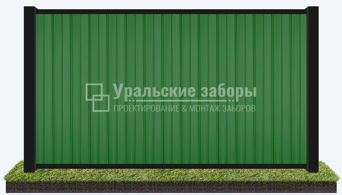 Забор из профнастила «Имитация рамного»