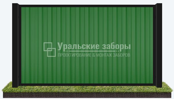 Забор из профнастила «Рамный»