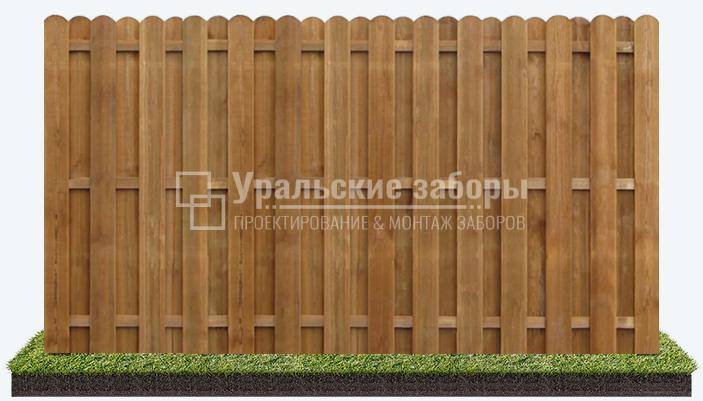 Деревянный забор «Вертикальная шахматка»