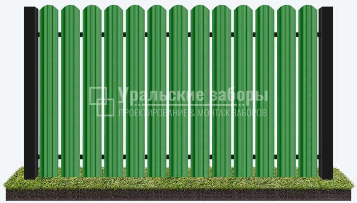 Забор из металлического штакетника «Евро стандарт»