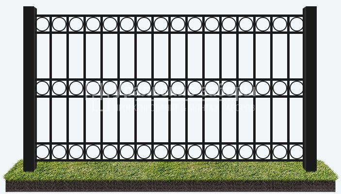 Сварной забор «Парковый – 1»
