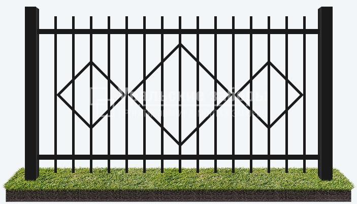 Сварной забор «Ромб»