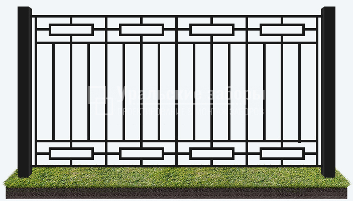 Сварной забор «Парковый – 2»