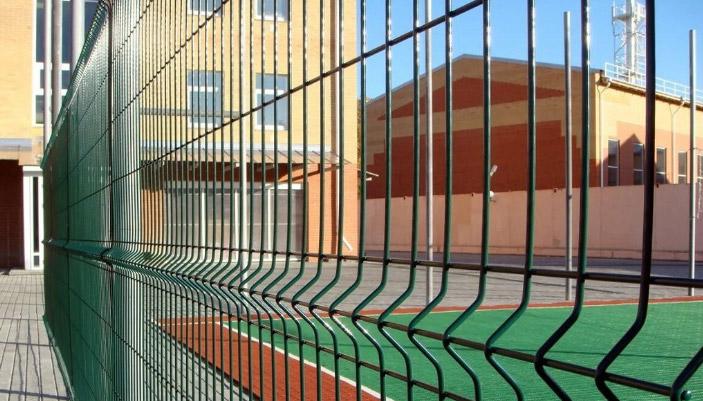 Забор сетчатый Гранд Лайн с полимерным покрытием