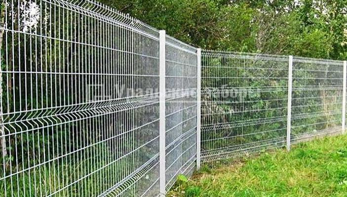 Оцинкованный 3D забор для дачи «Эконом»